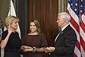 Pam Patenaude is sworn in as the new HUD Deputy Secretary by Vice President Mike Pence.jpg