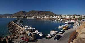 Panorama of the Port of Hersonisos