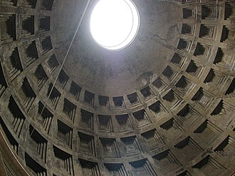 Stress (mechanics) - Cupola of the Pantheon, Rome