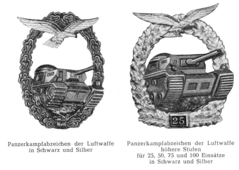Panzerkampfabzeichen Luftwaffe 57er