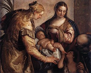 The Holy Family with St Barbara and the Infant St John