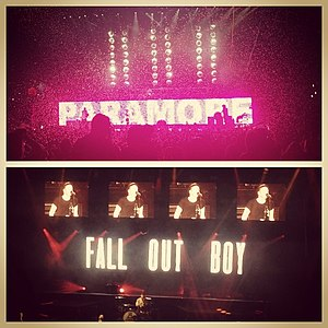 Monumentour - Paramore (top) and Fall Out Boy (bottom)