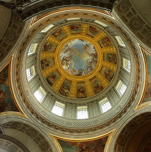 De La Fosse's allegories under the dome over the tomb of Napoleon Paris - Plafond du dome des Invalides.jpg