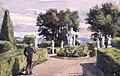 Park med statyer. Sandemar 23 augusti 1887. Fritz von Dardel, 1887 - Nordiska Museet - NMA.0043714.jpg