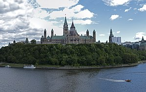 English: Photograph of Parliament Hill, Ottawa...