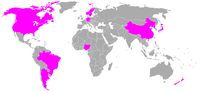 Participating countries in women's football at the 2008 Olympics