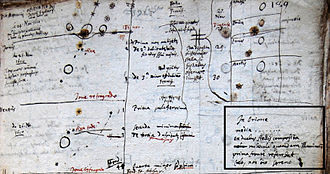 Nicolas-Claude Fabri de Peiresc - Detail of Peiresc's notes recording his first observation of the Orion Nebula on 26 November 1610