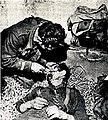 Partizanski zdravnik dr. Tivadar pomaga ranjenemu Nemcu.jpg