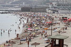 Playa de la Ribera - Playa de la Ribera in the summer