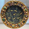 Patera di serpentino, I sec ac o I sec dc, con montatura dell'850-900 ca., da tesoro di st. denis.JPG