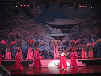 A Korean dance performed by transsexual artists in Alkazar theater in Pattaya