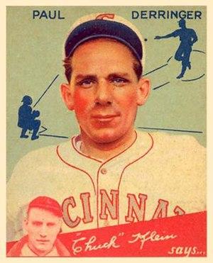 Paul Derringer - Baseball card of Derringer