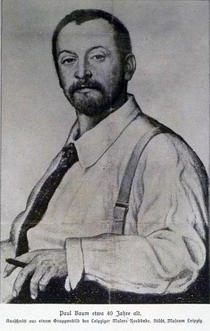 Paul Baum (artist) - Paul Baum (Illustration from a German newspaper, 1899)