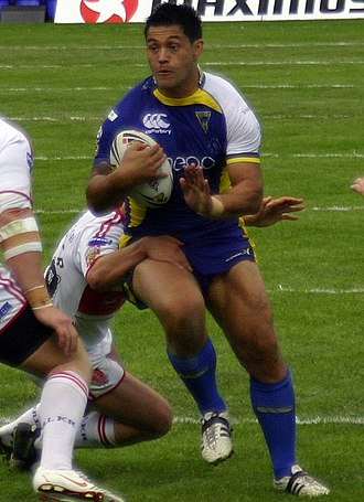 Paul Rauhihi - Rauhihi playing for Warrington in 2008