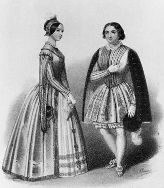 Marietta Alboni - Viardot and Alboni in Meyerbeer's Les Huguenots, Covent Garden 1848