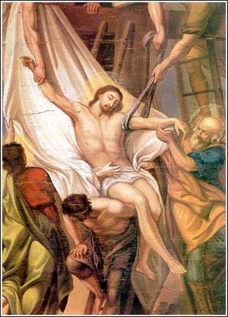 Pavel Đurković - Pavel Djurković - Christ Being Removed from the Cross