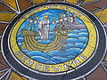 "Pavement painting of Leith's motto ""Persevere"".jpg"