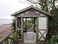 Pavilion at the start and end of the Hadrian's Wall Path at Bowness, Cumberland - geograph-2884530.jpg