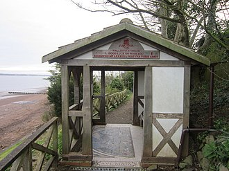 Bowness-on-Solway - Image: Pavilion at the start and end of the Hadrian's Wall Path at Bowness, Cumberland geograph 2884530