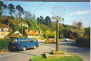 Peaslake - Image: Peaslake, Village Centre geograph.org.uk 108979