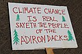 People's Climate March 2017 in Washington DC 16 - Sign, Climate change is real sayeth the people of the Adirondacks.jpg