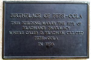 Pepsi - A plaque at 256 Middle Street, New Bern, NC