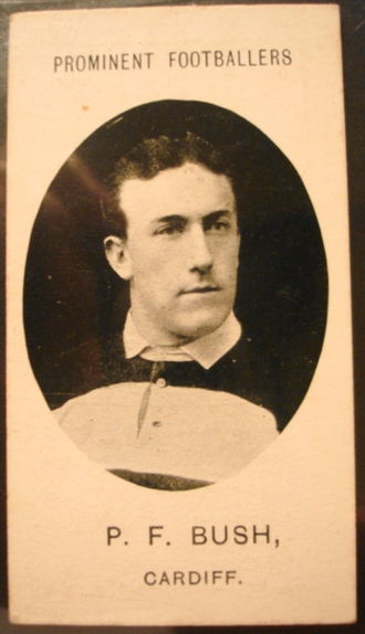 Percy Bush - Bush in his Cardiff jersey