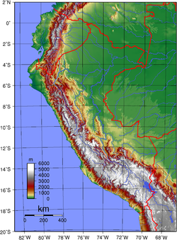 Geography Of Peru Wikipedia - Physical map of peru