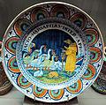 Pesaro, piatto con la volpe che predica alle oche, 1490-1500 ca..JPG