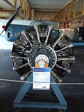 Shvetsov ASh-21 - Image: Petőfi Csarnok, Repüléstörténeti kiállítás, Švecov Aš 21