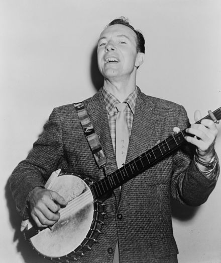 Pete Seeger, inducted in 1996. Pete Seeger NYWTS.jpg