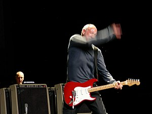 "Pete Townshend doing his tradermark ""wind..."