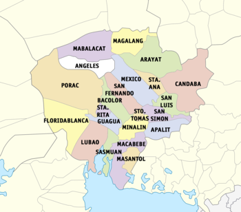 Political Map Of Pampanga