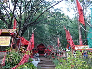 Tai folk religion - A shrine to Pho Padang in Lom Sak, Phetchabun Province, Thailand.