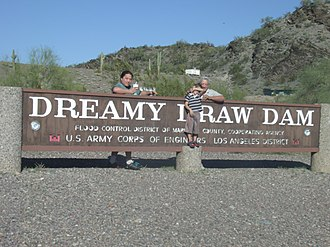 Phoenix Mountains - Dreamy Draw Dam According to local legend Dreamy Draw Dam is supposedly a UFO crash site where in 1947 the Army Corp. of Eng. used rock to cover up the crash site.