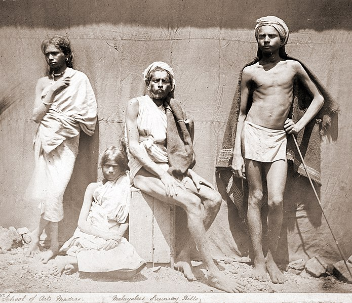 படிமம்:Photograph of two men and two women of the Malaiyali tribe in the Shevaroy Hills in Tamil Nadu - 1860.jpg