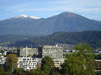 Astromundus - Institute of Astro- and Particle Physics of University of Innsbruck can be seen here (the tallest building with a telescope dome on the roof).