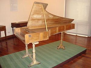 Bartolomeo Cristofori - The 1722 Cristofori piano in the Museo Nazionale degli Strumenti Musicali in Rome.