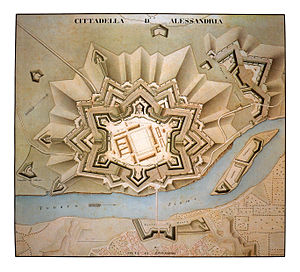 Cittadella of Alessandria - Image: Pianta Cittadella 1846