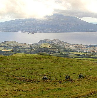 Faial-Pico Channel - The ubiquitous view of Pico (background) and island of Faial (foreground)
