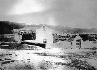 Picuris Pueblo, New Mexico - San Lorenzo de Picurís, circa 1915