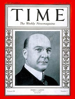 Pierre S. du Pont - Pierre S. du Pont on the cover of TIME Magazine