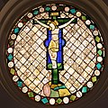 Pietro lorenzetti, vetrata col crocifisso, dal duomo di massa marittima, 02.jpg