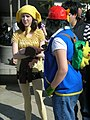 Pikachu & Ash Ketchum cosplayers at 2010 NCCBF 2010-04-18.JPG