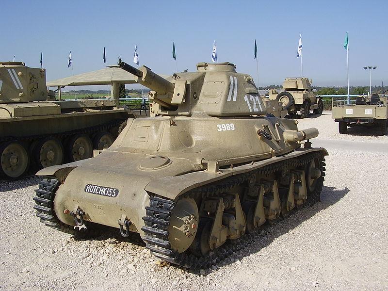 טנק הוצ'קיס במוזיאון יד לשריון
