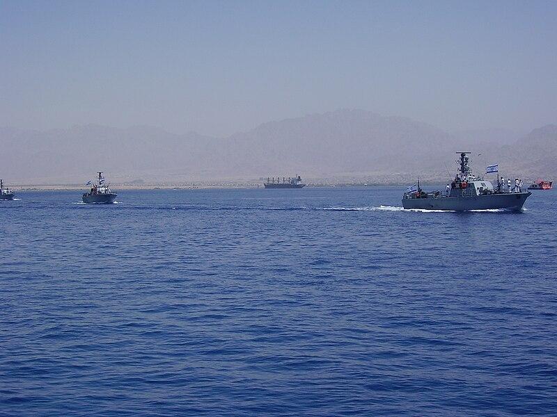 משט חגיגי של חיל הים במפרץ אילת ביום העצמאות