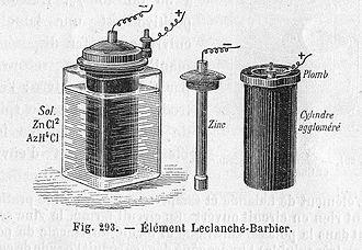 History of electrochemistry - Leclanché cell