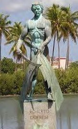 West Indies anti-piracy operations of the United States - A monument of Roberto Cofresi in Cabo Rojo, Puerto Rico.