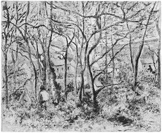 The Côte des Bœufs at L'Hermitage - Paysage sous bois, à l'Hermitage, 1879.