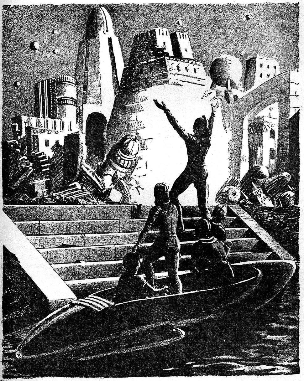 Planet Stories 1946 Summer Leydenfrost illustration